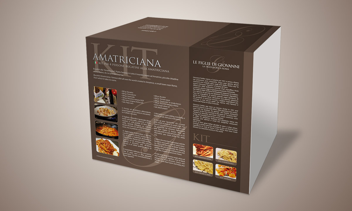 Kit personalizzato packaging alimentare