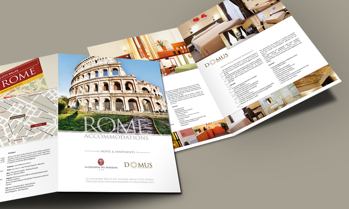 Interno brochure per Hotel e B&B